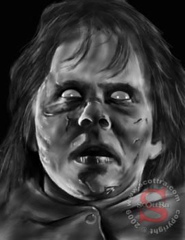 Regan from The Exorcist by ScOttRa