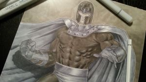 magneto commission for heroes comicon by Sajad126