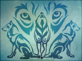 Wolf Pack Tribal by NathalieNova