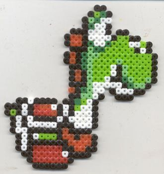 Yoshi Super Mario World SNES by nekomusume