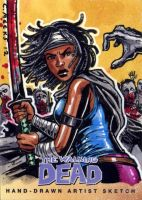 Michonne Walking Dead Comic Trading Cards Set 2 by Kapow2003