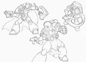 Space Marine Sketches by Blazbaros