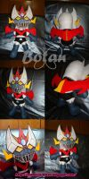 Great Mazinga plush version by Momoiro-Botan