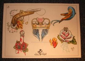 flash set 1 no5 by willowtreetattoos