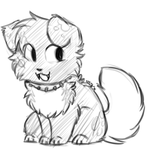 Sketchy Collar -Commish- by Spottedfire-cat