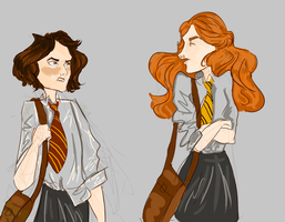 Stark's sister at Hogwarts by Julia-USC