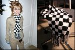Checkered Roxas Scarf by bluucircles