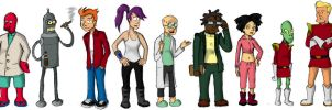 Futurama Cast by neoalxtopi