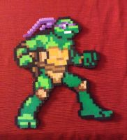 Pixel Bead Art Donatello by ShadowMaginis