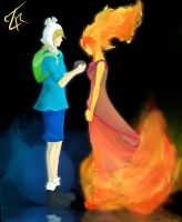 Finn and Flame Princess by ZeroReqiem