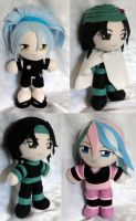 Commission, Mini Plushie Toriko Trio by ThePlushieLady