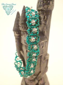 RAW Teal Bracelet by TheSortedBead