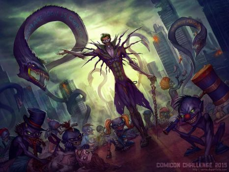 Comicon challenge 2015 Joker and Darkness by Anhel1310