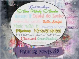 Pack Font 03 Con acentos by Redxibsul
