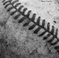 Black and white baseball by Ranae490