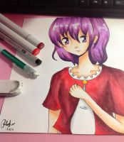 Purple Haired Girl (REDO) by CopicUser101