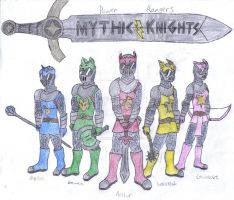 Power Rangers: Mythic Knights by werewolfwannabe1224