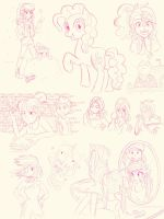 MLP FiM Doodles by LouiseLoo