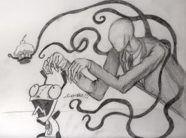 Slender Man vs. Gir by MarieDRose