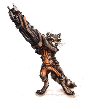 Rocket Raccoon by kenket