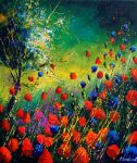red and blue poppies 670708 by pledent