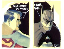 World's Finest Post-it art by BroHawk