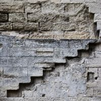 Stairs in the wall by hugovanmalle