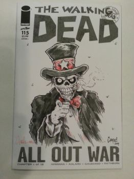 Sgt. D Visits The Walking Dead by MonsterInk