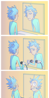 Clearly the best hairstyling method. [RaM Comic] by Choppywings