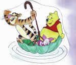 Pooh and friends exploring by MoonyMina