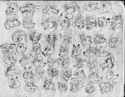 100 heads and poses P4 by Redfoxbennaton