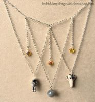 Space Exploration Necklace by Forbiddenynforgotten
