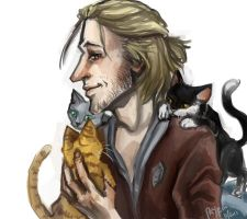 Anders and Kittens by PayRoo