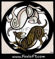 Yin Yang Bull Terriers by Foxfeather248
