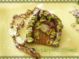 Prehnite Fairy Door by EnchantedTokenArt