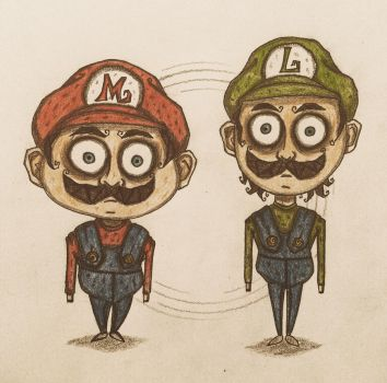 Mario and Luigi by november-ludgate