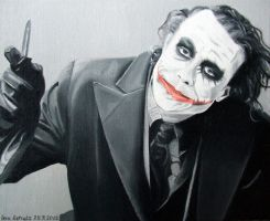 Heath Ledger - The Joker by shaman-art