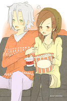 gokuharu on a movie date by invaderk8