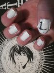 Death Note Nail Art- L by tay-bear