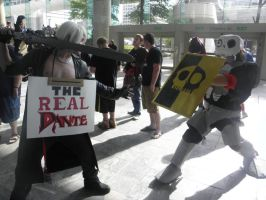 Otakon 2013 - Sir Daniel vs. Dante by mugiwaraJM