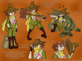 Steam Punk Moomins - Snufkin by Genolover