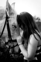 horse and girl true love by Borderkowa