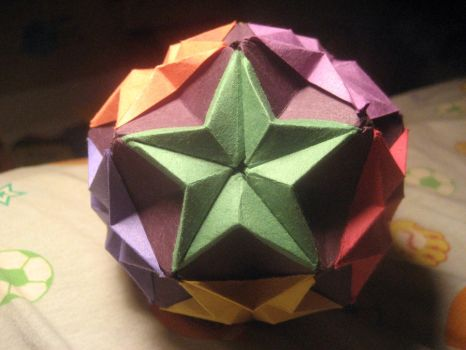 Origami Cloud of Stars by musicmixer112