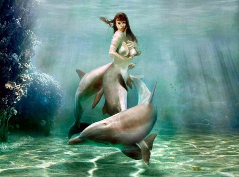 Mermaid Princess dolphin v2 by FueledbypartII