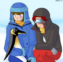 Sitting with the penguins by General-RADIX