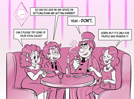 Commission - Dinner Date by TopperHay