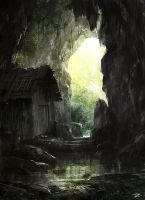 cabin in the cave by tnounsy