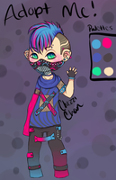 Cyber Punk Adopt For Sell {OPEN} by Chezzi-Chan