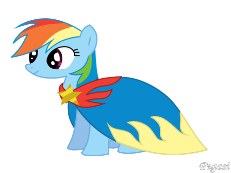 Raindow Dash With Cape by Pegasi-pony