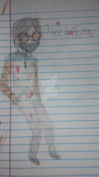 Ticci toby (Small blood warning) by agamingartist03